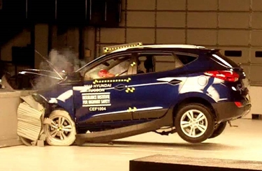 Frontal offset crash test