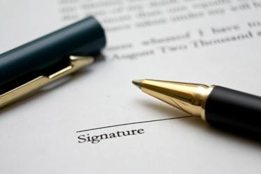 Firma da apporre per un finanziamento chirografario