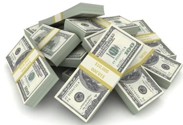 Immagine di mazzette di dollari<p />