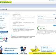 Schermata della piattaforma Banco posta on line