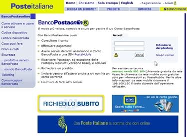 Bancoposta online.