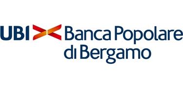 Logo e slogan della Banca Popolare di Bergamo