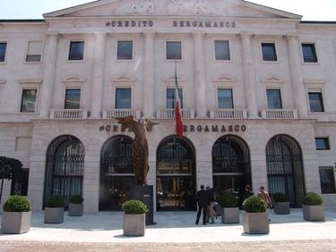 La sede centrale del Credito Bergamasco