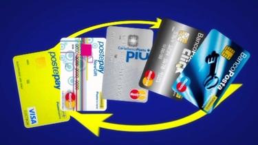 Tessera bancomat del conto banco posta