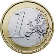 Una moneta da un euro